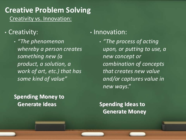 creativity and innovation are seen as Innovative thinking and problem solving with basadur applied creativity the key to innovation is problem definition children naturally see multiple.